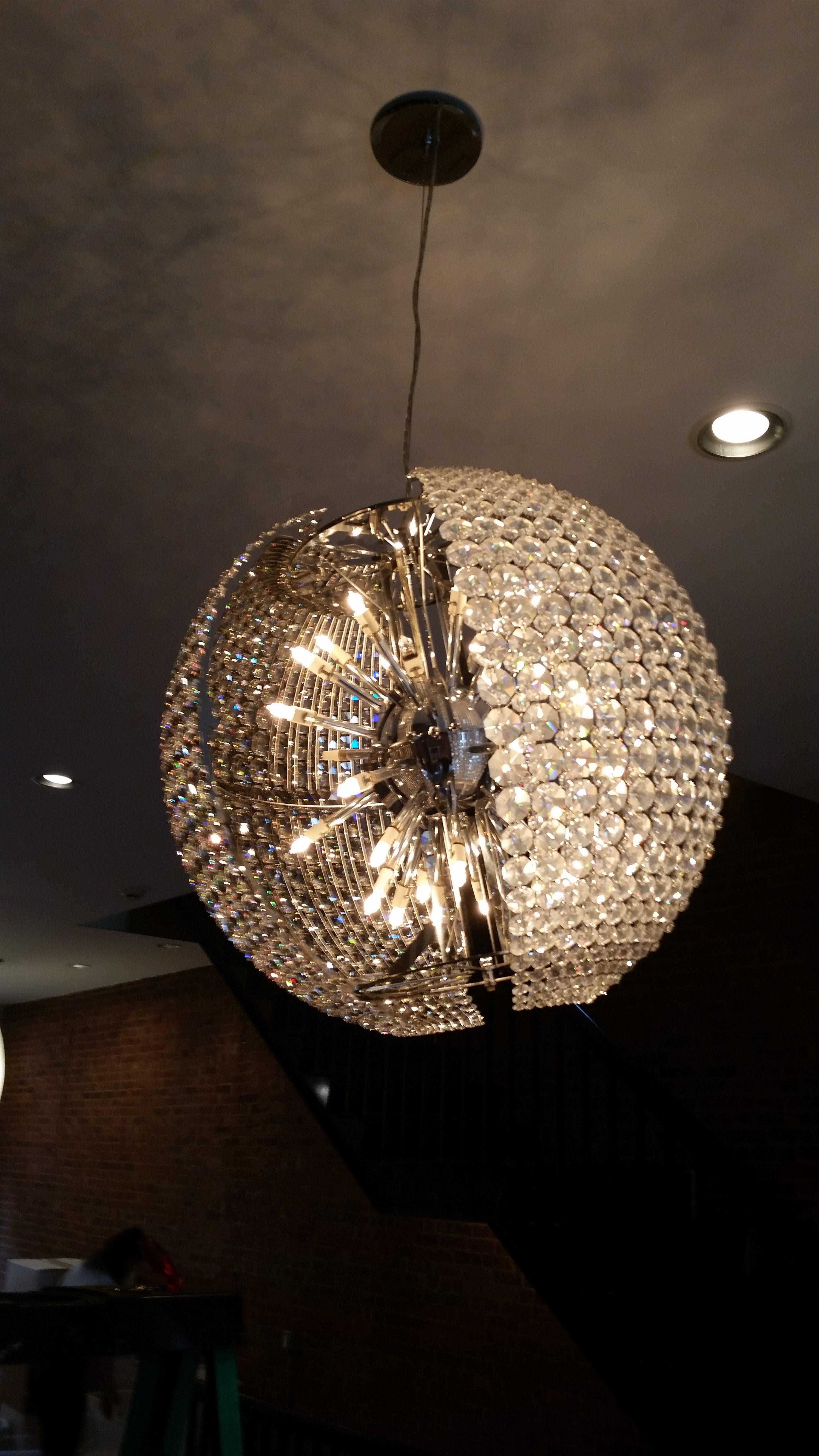 Chandelier restoration manhattan ny expert lighting inc schonbek circle chandelier chandelier cleaning arubaitofo Images
